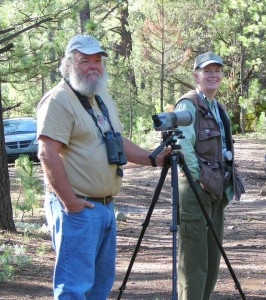Naturalists and SABO founders Tom Wood and Sheri Williamson can be your personal birding guides.