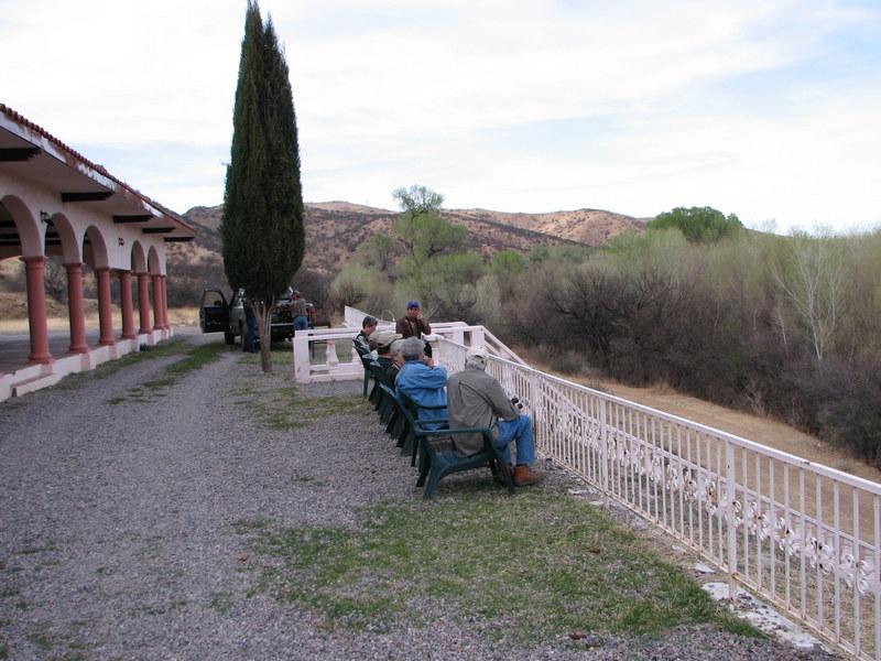 Veranda at lodge